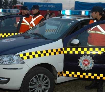 La Policía informó que el conductor se entregó inmediatamente.