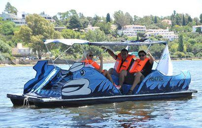 Los hidropedales, ideal para recorrer el lago.
