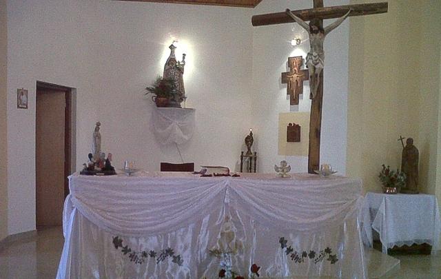 FOTO: La capilla del geriátrico Juan Julián Puente.