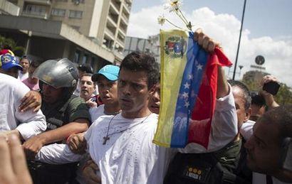 El opositor venezolano Leopoldo López está detenido desde 2014.