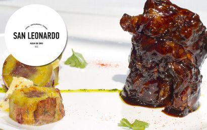 San Leonardo: Bondiola de cerdo a la cerveza roja