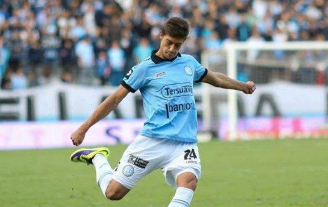 Emiliano Rigoni debutó en 2013 en Belgrano frente a Lanús
