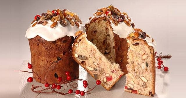 Tradicional pan dulce de Navidad.