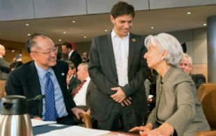Axel Kicillof con Christine Lagarde, directora del FMI (Foto: Archivo)