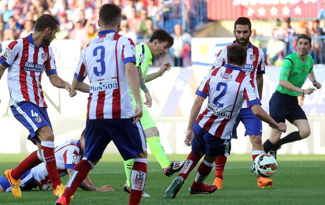 FOTO: Messi, imparable ante el Atlético Madrid.