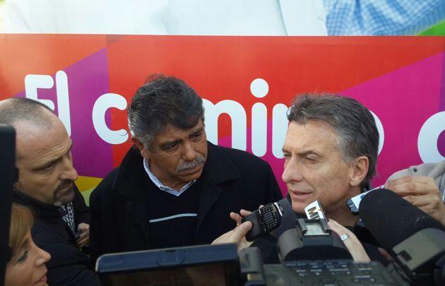 Eduardo Romero recibió a Mauricio Macri en Villa Allende.