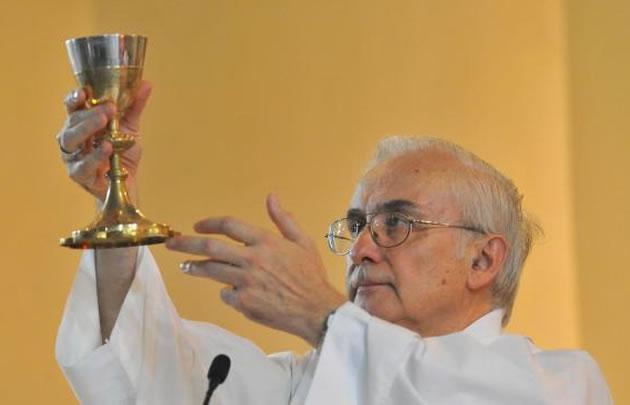 Moseñor Ñáñez, en la misa dominical (Foto: Archivo)