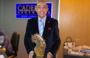 Mario Pereyra con el premio Taborda 2015.
