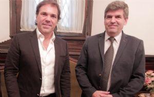 Alberto Pérez se reunió con Francisco Tamarit, rector de la UNC.