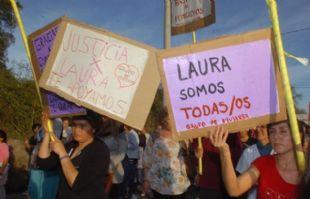 El pasado lunes también hubo una marcha pidiendo justicia por Laura Moyano.