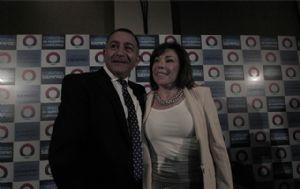 Luis Juez y Olga Riutort se unieron para competir contra Mestre.