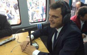 Sergio Massa dialogó con Cadena 3 en La Rural.