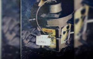 El contenedor con material radiactivo que es buscado.