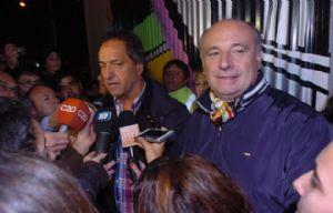 """Scioli: """"Estamos con mucha confianza en el pueblo cordobés""""."""