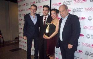 Jonathan Saavedra y Clarisa Aragón, los ganadores del Mundial de Tango en pista.