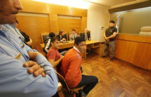 Pablo Rearte al recibir la lectura del veredicto.