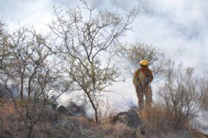 12 cuarteles de bomberos trabajaron en Las Jarillas.