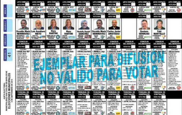 Las elecciones en Bariloche será el domingo 6 de septiembre.