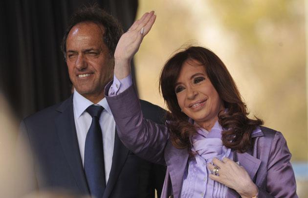 Cristina Fernández se mostró junto a Scioli.