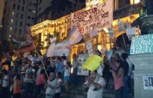 Séptimo día de protesta en Tucumán (Foto: Twitter).