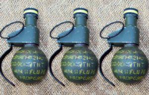 Las tres granadas fueron detonadas en un sitio baldío.