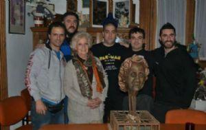 La titular de Abuelas de Plaza de Mayo se reunió con los músicos de Callejeros.