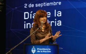 Cristina Fernández encabeza el acto por el Día de la Industria.