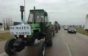 Los tractores recorrerán la avenida Circunvalación.