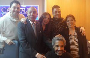 Lisandro Márquez con el equipod e Juntos, en Cadena 3.