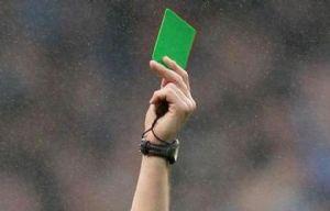 La tarjeta verde se usará en Italia para premiar el juego limpio.