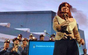 Cristina Fernández encabezó el acto por Cadena Nacional.