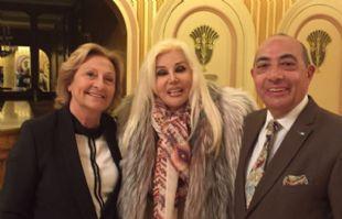 Estela, Susana Giménez y Mario Pereyra, luego de la función de Piel de Judas.