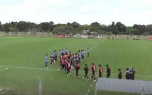 Los pibes de Belgrano dieron el ejemplo con los de Newell's.