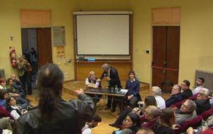 Los incidentes fueron en la Facultad de Ciencias Económicas de la UBA (Imagen de TV).
