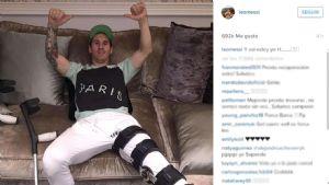 Messi se sacó una foto y la subió a Instagram con un enigmático mensaje.