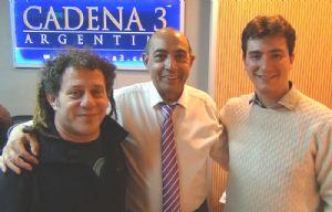 Ariel Tarico visitó los estudios de Cadena 3.