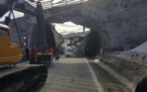 Derrumbe del túnel en Cerro Castor