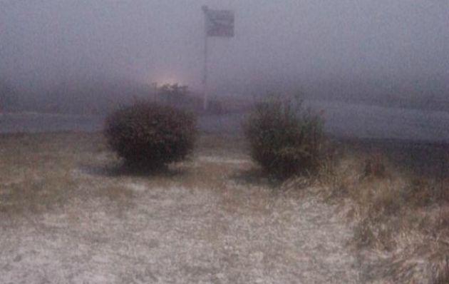 Nieve en el Parador El Cóndor
