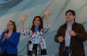 Cristina respaldó la candidatura de Alicia Kirchner.