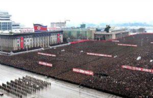Histórico desfile de militares en Corea del Norte.