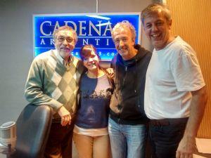 Luis Brandoni y Eduardo Blanco, en ''Una Mañana para Todos''.