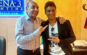Américo junto a Mario Pereyra.