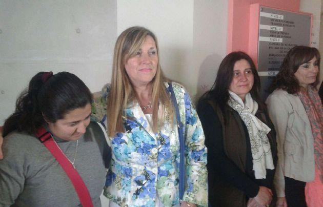 La madre de Maru, durante una de las audiencias del juicio.