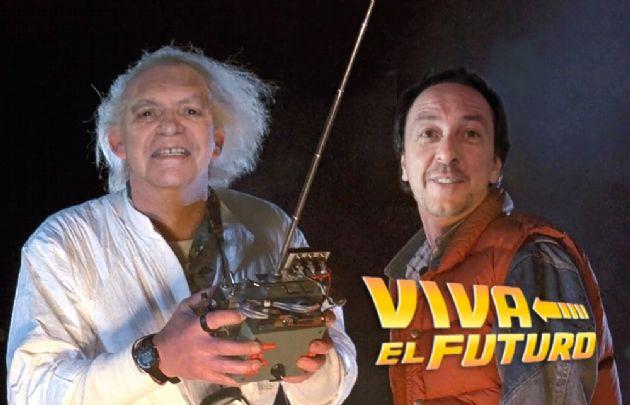 Rony y Leo, como 'Doc' y Marty McFly (Fotomontaje: Juan Blondont).