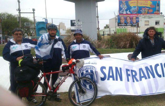 Movido por la pasión, Martín Sánchez arrancó hoy desde San Francisco.