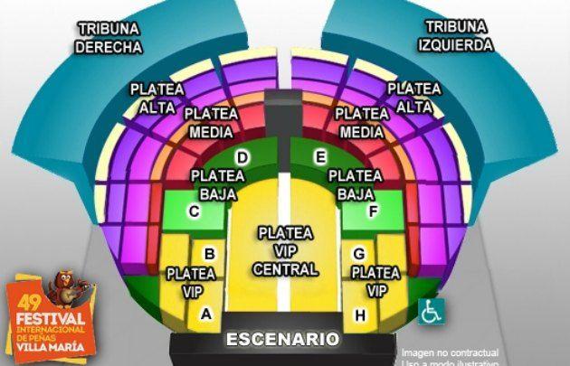 Los sectores del Anfiteatro de Villa María.