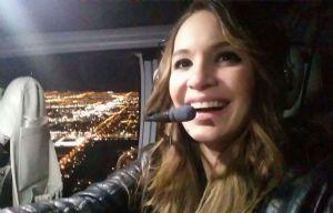 Agustina Vivanco sobrevoló Las Vegas.