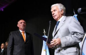 Lawson al asumir en 2013 en el gabinete de De la Sota.