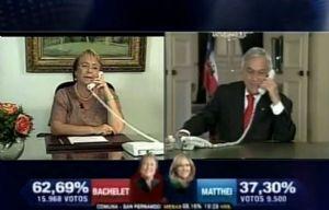 La felicitación de Piñera a Bachelet