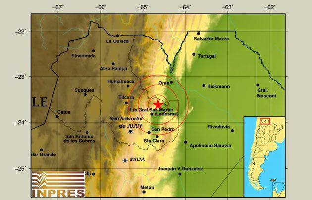 El epicentro fue a 91 kilómetros de la capital jujeña.
